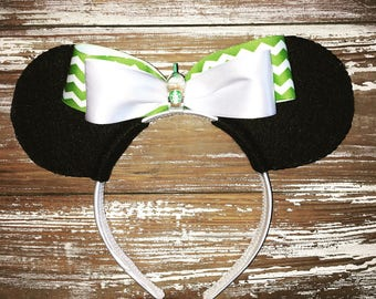 Starbucks Ears, Coffee Ears, Mickey Inspired Ears, Disney Inspired Ears, Mouse Ears