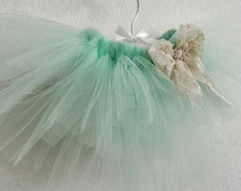 Mint tutu, toddler tutu, photo tutu prop, photo prop, birthday tutu, flower girl tutu, tutu, fluffy tutu