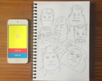 Shawn Mendes Snapchat Sketches Collage
