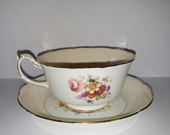 Hammersley & Co Bone China Teacup and Saucer Set