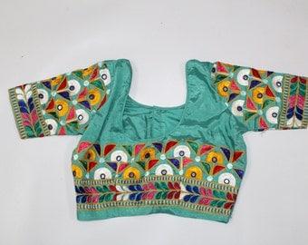 banjara choli Top Blouse vintage hand embroidered multi color ethnic dress women banjara tribal choli handmade craft free shiping worldwide