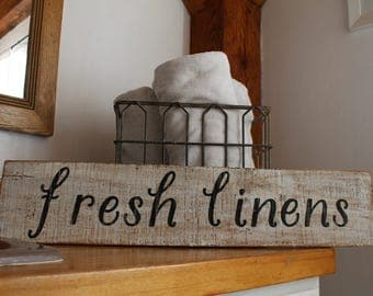 Fresh Linens hand made sign