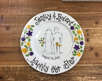 Hand painted Tiger Tail Wedding Platter