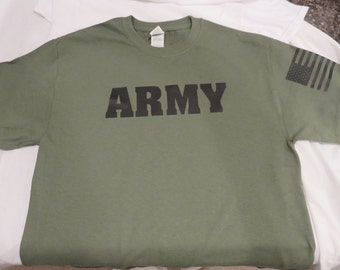 ARMY PT T-shirt, Miliatary Green