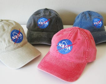 Nasa Insignia Embroidered Hat Baseball Cap Dad Hat Cotton Vintage Cap