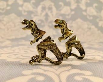 3D Dinosaur Earrings