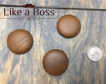 Leather Magnets - Upcycled Awesomeness (set of 3)