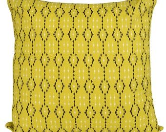 Ikat Lime Geometric Cushions with Fillers Various Sizes 28cm , 36cm, 43cm , 60cm