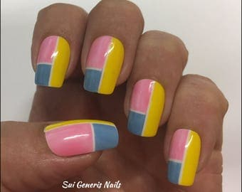 False Nails Geometric Multi - Quality!