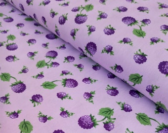 Floral Fabric - Purple Floral - Purple Berry Fabric - Purple Fabric - Lavender Quilting Cotton - Fabric By the Yard - Maywood Studio Fabric