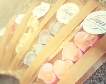 Offer - 5 packs of Small Soy Wax Hearts for 5 Pounds- Soy Wax Melts- Heart Soy Melts- Wax Melts- Rosi Handmade Soy Wax Melts