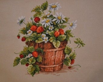 Embroidered picture taste of summer