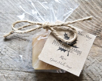 Goat Milk Soap - 50 Custom Wedding or Shower Favors