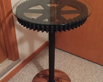 Steampunk gear table