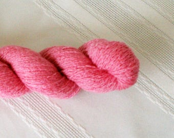 Recycled Cashmere Pink Peony Lace Weight Yarn