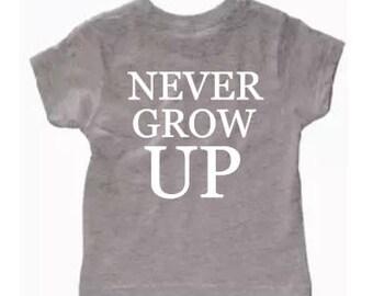 Never grow up kids/toddler tee