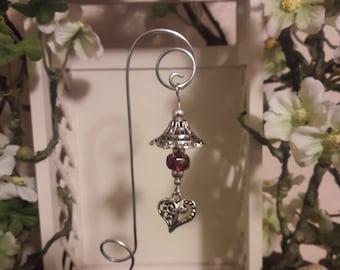 Purple Fairy garden Lantern, Miniature garden accessory decor
