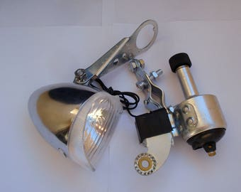 Vintage Bicycle Dynamo Light and Bicycle Dynamo/ Metal Bicycle Accessories/Working/1990s