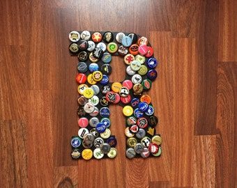 Beer Cap Letters/ALL letters available - 12 inches