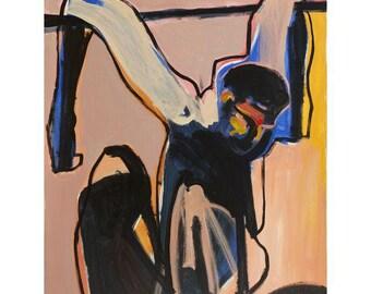"""Igal Vardi """"The Fall"""" Acrylic on Canvas"""