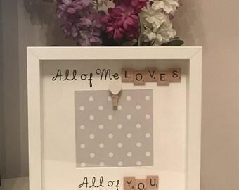 Valentine's Day scrabble frame