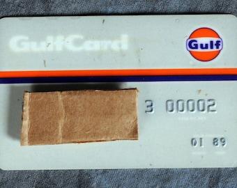 Gulf Oil Gasoline Credit Card Gulfcard exp 89