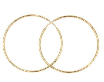 1,97inch diameter 14k  gold hoop earings