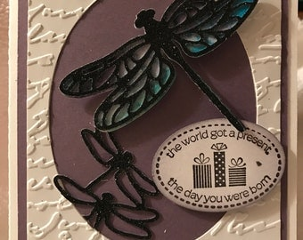 Dragonfly Birthday Card