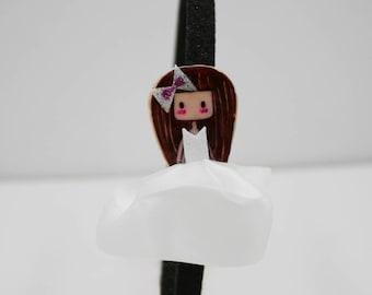 Handmade Headband with princess figure