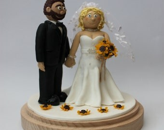 Wedding Cake Topper - Fimo