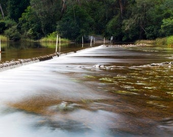 Shallow Crossing Clyde River NSW Australia Art Photograph Print