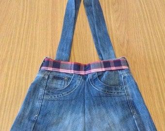 Handmade recycled blue denim (Lee Cooper) ladies shoulder bag / handbag