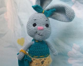 Handmade toy Little Hare-Girl