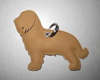 Briard leather pendant