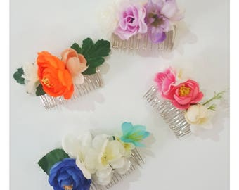 Delilah flower combs