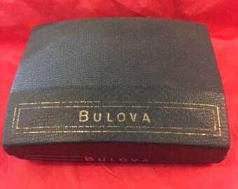 Blue Bulova watch box