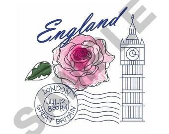 England Travel - Machine Embroidery Design