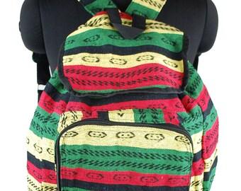 Handmade Ethnic Hippy Rasta Colour Backpack Bag
