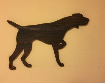 German Shorthaired Pointer Rustic Wooden Dog Wall Art