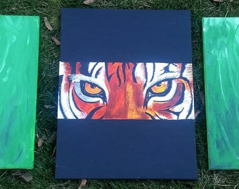 Tiger abstract art custom canvas wall art series