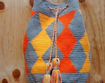 wayuu crochet bag, wayuu style bag, cotton bag,