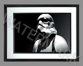 Star Wars . Stormtrooper A3 Print . Poster