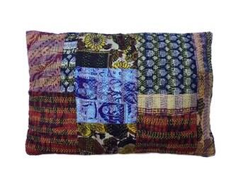 Decorative Pillow Cover, Sari Pillow Cover, Throw Pillow Cushion Cover, Accent Pillow, Patchwork