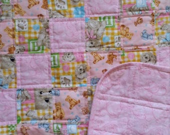 Pink with Teddy Bears quilt