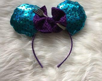 Little Mermaid Mickey Ears, Little Mermaid Minnie Ears, Little Mermaid Ears, Ariel Minnie Ears, Ariel Mickey Ears