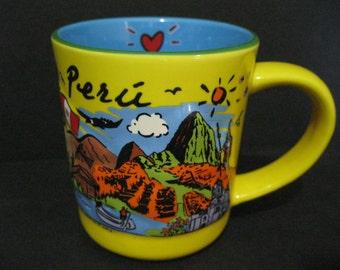 Peru Mug, Vintage Luke-A-Tuke Peru 3-D Mug,  Luke-A-Tuke Collectible Mug, Peru Souvenir