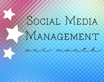 Monthly Social Media Management - Facebook Group or Page Management - Etsy Shop or Small Business Social Media Management