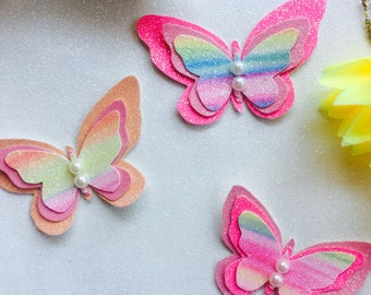 Butterfly clip or headband