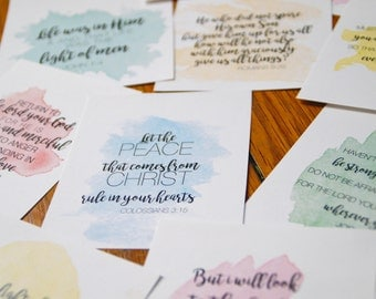 PHYSICAL - Scripture Memory Cards