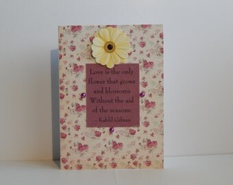 Love Card, Maroon and Off White